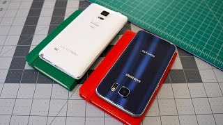 видео Сравнение Samsung Galaxy S6 и Note 4