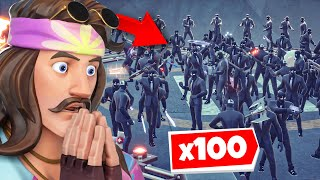 I Got 100 HENCHMEN to Spawn at GROTTO in Fortnite... 😳