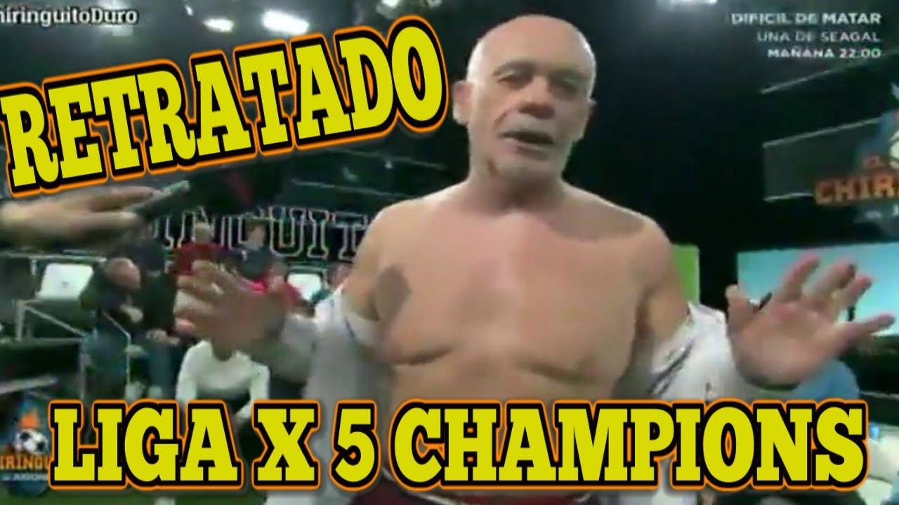 """ALFREDO DURO """"RETRATADO"""" ESTÁ LIGA VALE 5 CHAMPIONS LEAGUE, CHIRINGUITO DE JUGONES"""