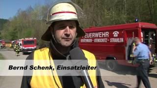 Mehrere Ferienhäuser brannten auf Campingplatz in Herzhausen
