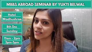 MBBS abroad seminar in Kota by Yukti Belwal