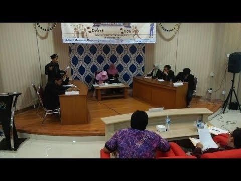 Debat STIBA Arraayah Vs Ma'had Darussunnah (Final)UIN JAKARTA_PART 01