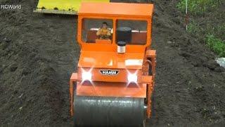 RC Construction Site Baustelle ♦ Dragline Excavator Seilbagger ♦ Intermodellbau Dortmund 2015 Cable