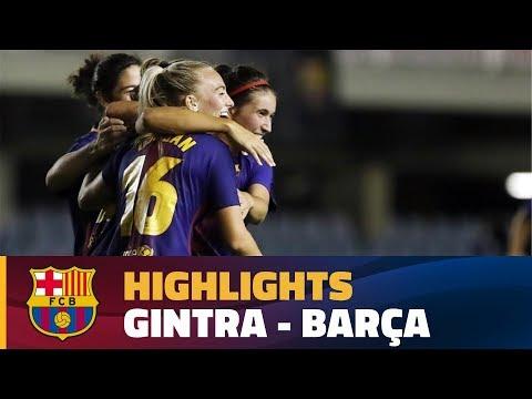 [HIGHLIGHTS] FUTBOL FEM (UWCL): Gintra - FC Barcelona (0-6)