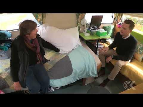 Pensioner in poverty: Life in a caravan