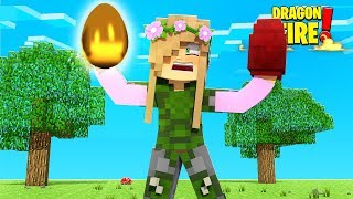 WE FOUND A DRAGON EGG & A *RARE* GOLDEN EGG! | Minecraft Dragon Fire