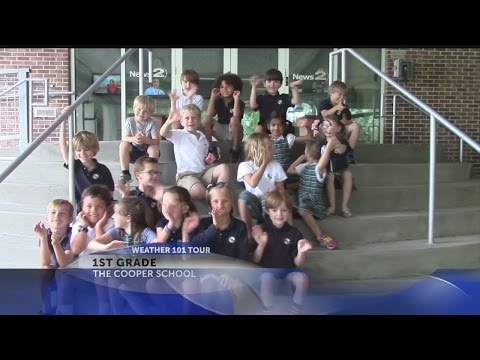 The Cooper School 1st graders visit Rob Fowler at News2 for Weather 101