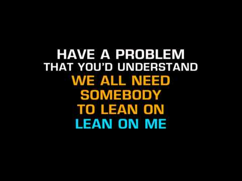 Kid Rock - Lean On Me (Karaoke) ft. Sheryl Crow, Keith Urban
