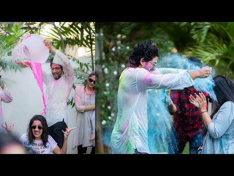 Allu Arjun, Niharika Konidela and others celebrate Holi || Happy Holi