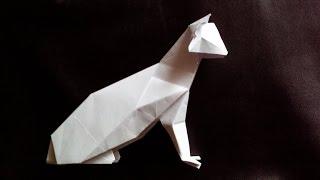Кот оригами , cat origami (Hideo Komatsu)