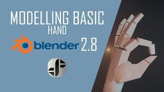 Blender 2.8 Tutorial | Modelling a basic hand in 3D