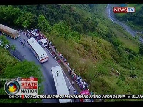 SONA: Mahigit 40 patay nang mahulog sa bangin ang sinasakyang bus