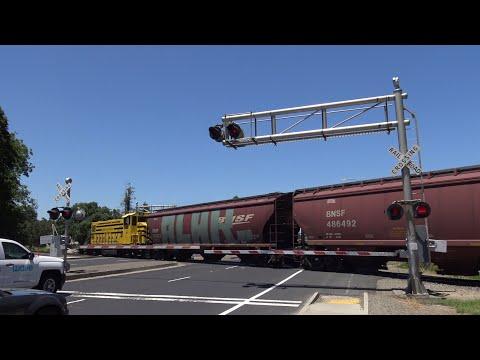 Sierra Northern Railway 133 Woodland Local, Jefferson Blvd. Railroad Crossing, West Sacramento Ca