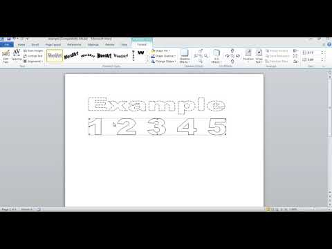 How To Make Dashed Letters And Number Tracing In Microsoft Word 2010 By Using Wordart