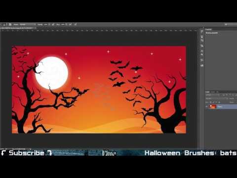 Halloween Bats Brushes - Photoshop Tutorial