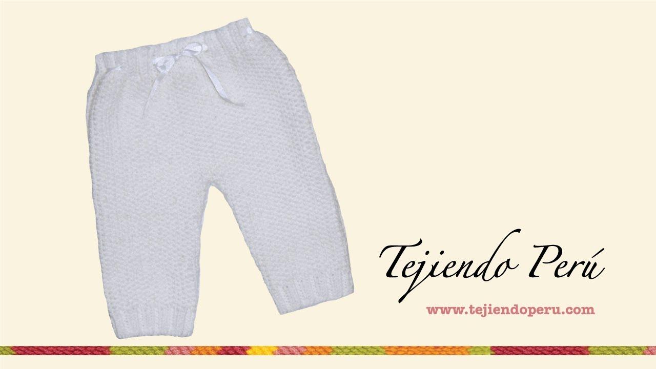 Pantalón para bebé - YouTube beaf87f09bf8
