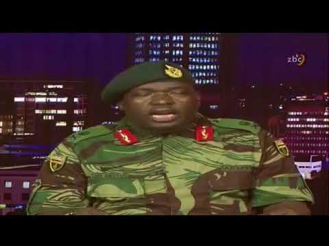 Zimbabwe army take over press statement