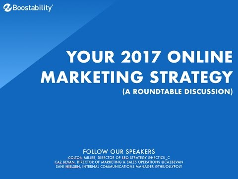 Your 2017 Online Marketing Strategy