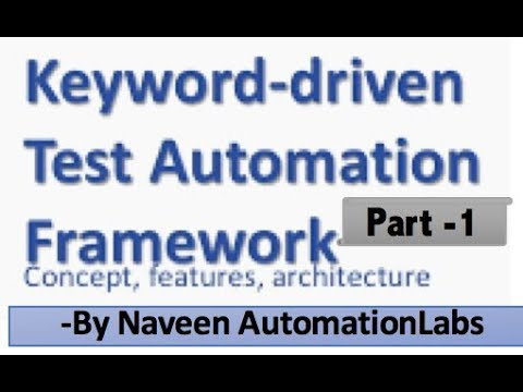 keyword driven framework in selenium using excel