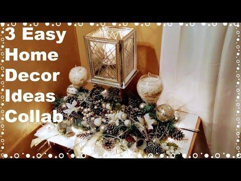 "3 Easy Home Decor Ideas ""DIY Dollar Tree Decor""  Christmas Centerpiece Decor"