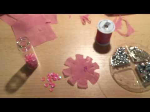 Как сделать цветы из шифона для платья 28