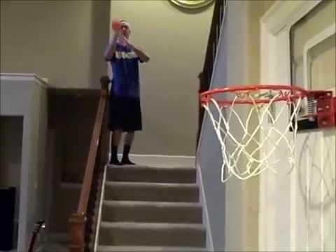 Impossible Mini Hoop Trick Shots HD