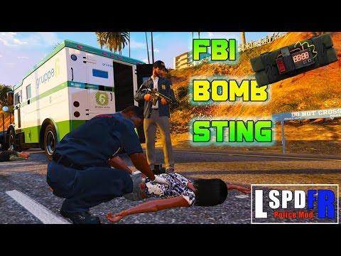 GTA 5 LSPDFR- Bomb Sting - FBI PATROL