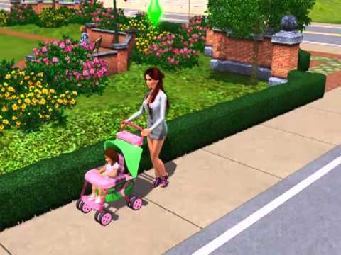 Sims 3 Going For A Walk In A Stroller Youtube