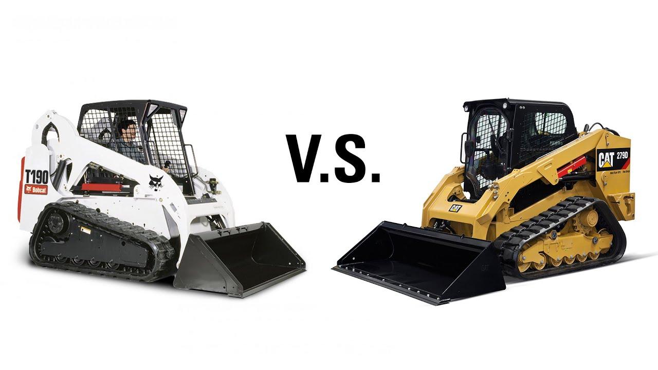 Cat Skid Steer vs  Bobcat Skid Steer