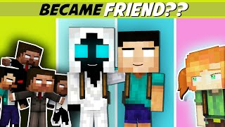 ENEMY BECAME GOOD FRIEND (ENTITY AND HEROBRINE) - WILL TOUCH YOUR HEART MONSTER SCHOOL