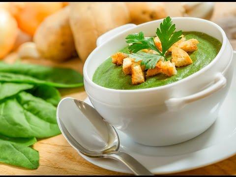 Суп из замороженного шпината