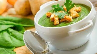 крем суп из шпината за 5 минут