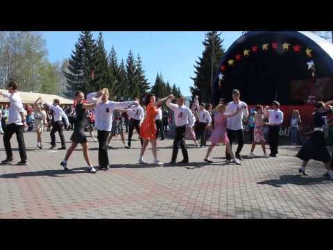Флэшмоб на 9 мая 2015. Красноярск