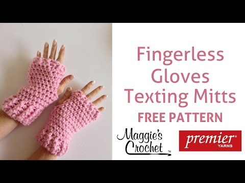 Fingerless Gloves Texting Mitts Free Crochet Pattern Right Handed