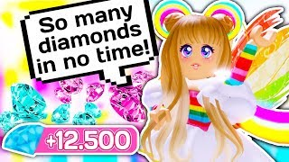 HOW TO GET 12.500 DIAMONDS IN 30 MINUTES 💎 // Roblox Royale High School