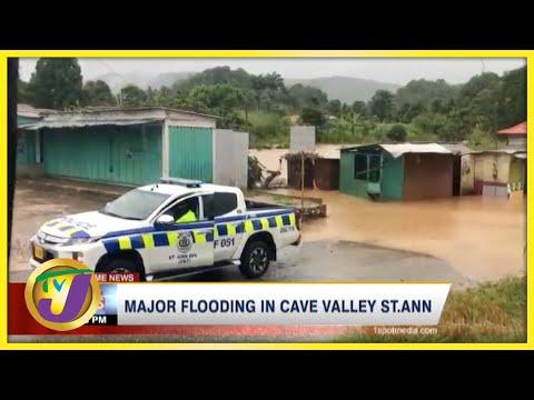 Tropical Storm Ida   Major Flooding in Cave Valley St Ann Jamaica   TVJ News - August 27 2021