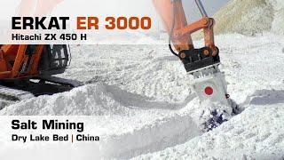 Salt Mining, Erkat ER 3000 + Hitachi ZX 450