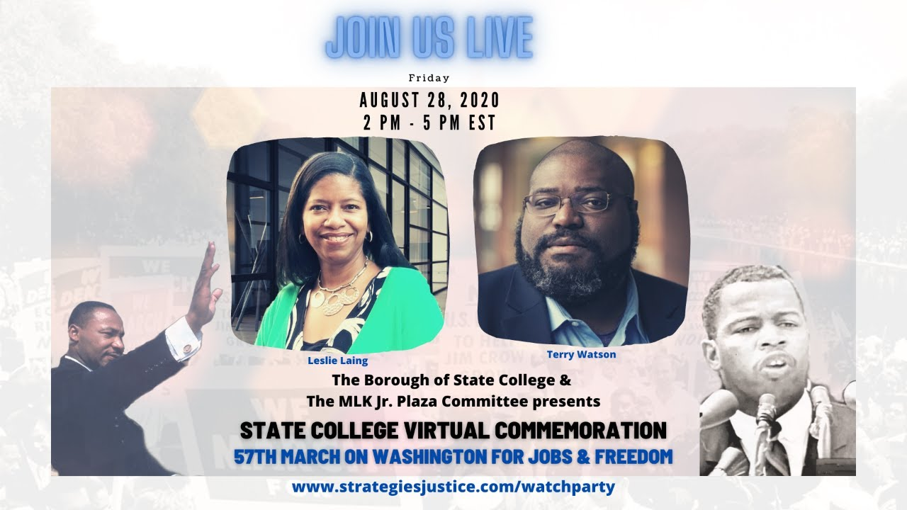 State College Commemoration of 57th March on Washington Virtual Event