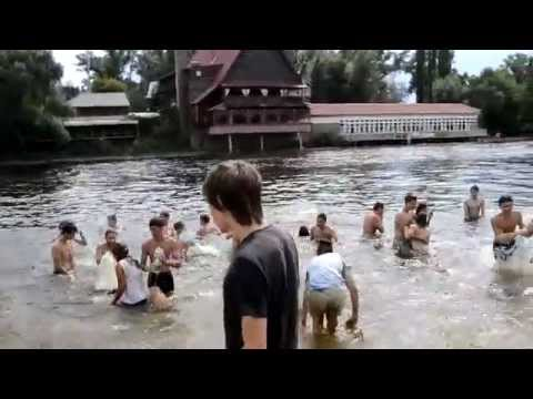 Water battle in Kyiv 24 08 2014