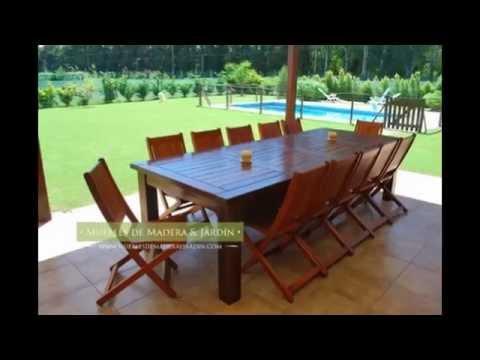 Sillas plegables muebles de madera y jard n com youtube for Muebles jardin plegables