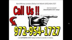 Hard Money Lenders Dallas Fort Worth 972 954 1727