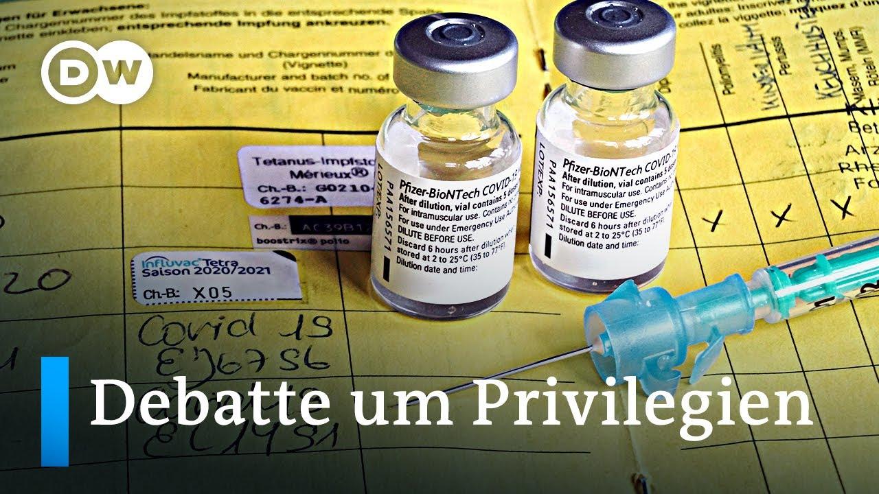 Lockerungen für Geimpfte: Recht auf Freiheit oder 2-Klassen Gesellschaft? | DW News