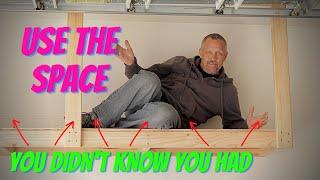 DIY Hanging Garage Shelves