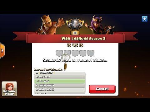 Clan War League Season 2 Has Begun😍Let Go Boys🤟