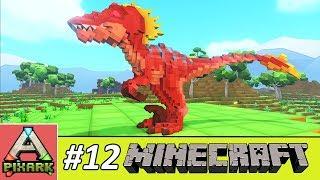 PIXARK - Minecraft Ark #12 - Taming Raptor - Cách Bẫy Khủng Long Ăn Thịt Raptor