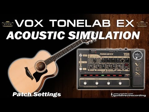 ACOUSTIC SIMULATOR on Tonelab EX with Stratocaster GUITAR PATCHES [#7].