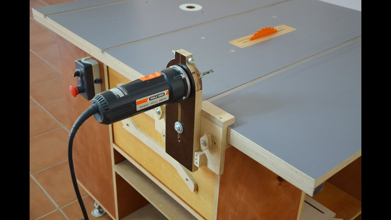 How it works router saw table part2 youtube for Table th horizontal