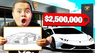 ANYTHING YOU DRAW, I'll BUY IT - CHALLENGE! W/MY LITTLE BROTHER OMG I WENT BROKE!!!