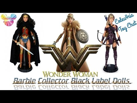 Coleu4ria Toy Chat Ep 01: Wonder Woman Barbie Collector Black Label Doll   Queen Hippolyta   Antiope
