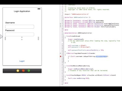Objective-C Tutorial: Creating an iOS App for Absolute Beginners (Tut: 1)